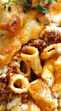 Ina Garten's Pastitsio Greek Dishes, Italian Dishes, Main Dishes, Greek Recipes, Italian Recipes, Wing Recipes, Pasta Dinners, Meals, Food Network Recipes