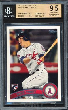 b31a9fe1f59 2011 Topps Update Baseball Mike Trout Rookie Card - His official Topps  Rookie Card!
