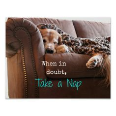 Golden Retriever Take a Nap Print by #AugieDoggyStore