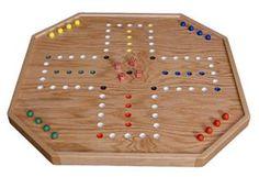 Amish Oak Wood Aggravation Game 4-6 Players Large