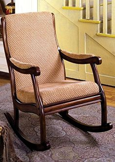Furniture Of America IDF AC6408 Liverpool Rocking Chair   Antique Oak
