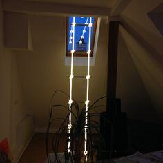 Leuchtleiter in Verbindung mit Bambus