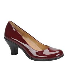 In a red-wine too!  Take a look at this Merlot Patent Salude Pump by Softspots on #zulily today!