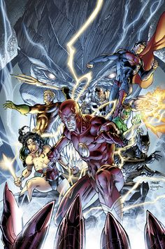 Exclusive First Look at Jim Lee's Covers for JUSTICE LEAGUE #11.  Love some Justice League.