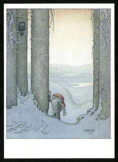 Julillustration av Lars Helje