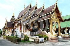 Buddist temple in Chiang Mai in Thailand