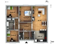 půdorys domu Lucie 26 Design Case, Floor Plans, How To Plan, Sims 4, House, Home Plans, Bonito, Home, Homes