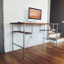 metal pipe desk - Google Search