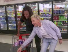 Michelle Obama and Ellen DeGeneres have a little fun shopping in CVS | Essence.com
