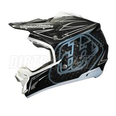 Troy Lee Designs SE3 Motocross Helmet - Carbon Pinstripe   eBay