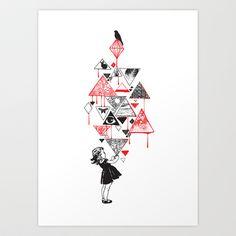 Lucy in the Sky Art Print by Budi Satria Kwan - $19.99
