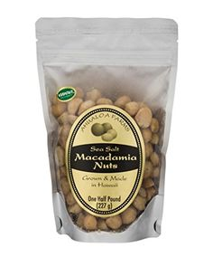 Ahualoa Farms Hawaiian Sea Salt Macadamia Nuts Half Pound Bag *** Continue to the product at the image link.Note:It is affiliate link to Amazon.