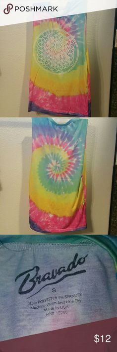 Bravado Tye-Dyed Sleeveless Tank Brand new Tye-Dyed Bravado sleeveless tank.   This is brand new never worn.  The tag came off.  There are no stains or holes.   It comes from a smoke free home.   This is a longer tank.   If you have any questions please ask! Bravado Tops Tank Tops