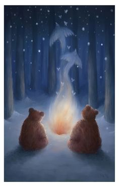 The Winter Bears by *pesare on deviantART