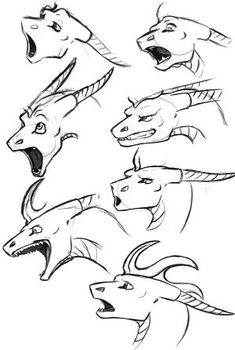 furry dragon face drawing: 11 thousand images found in Yandex. Animal Sketches, Animal Drawings, Cool Drawings, Drawing Techniques, Drawing Tips, Drawing Sketches, Drawing Ideas, Art Reference Poses, Drawing Reference