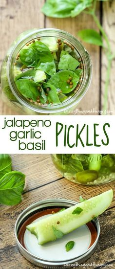Sacred Really Like - 22 Solutions That Should Change The Tide In Your Daily Life Along With The Lives Of Any Individual Jalapeno Garlic Basil Pickles Tangy, Zesty, And Crunchy Pickles, Easy To Make And Ready For Snacking The Very Next Day Fingers Food, How To Make Pickles, Pickled Garlic, Pickled Beets, Canning Pickles, Vegetarian Recipes, Healthy Recipes, Garlic Recipes, Pickeling Recipes