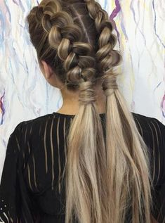 Excellent Photo 30 Gorgeous Braided Hairstyles for Long Hair Thoughts Dutch Braids Pigtails # pigtail Braids with extensions # pigtail Braids with extensions # Braids with extensions hairstyles # pigtail Braids with extensions # pigtail Braids sports Pretty Hairstyles, Easy Hairstyles, Hairstyle Ideas, Hairstyles 2018, Braided Hairstyles For Long Hair, Waitress Hairstyles, Wedding Hairstyles, Pigtail Hairstyles, Style Hairstyle