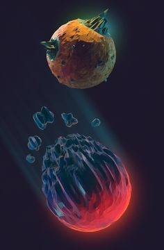 The planets and backgrounds in space games