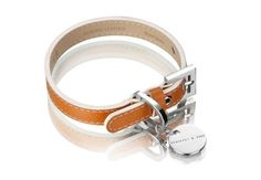 Hennessy & Sons Saffiano Leather Hermes Tan (Mustard Yellow) Dog Collar