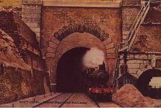 Locomotive exiting east end Box Tunnel, Great Western Railway, Corsham, Wiltshire, c1905 (WSHC ref P13601)