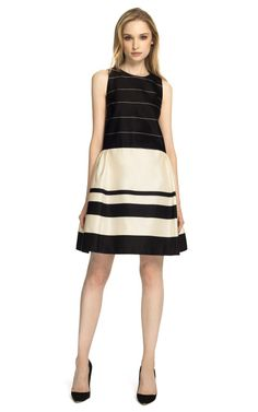 Katie Ermilio Striped Bow Back Bell Dress