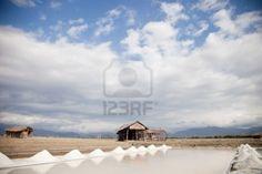 Salt plains in Indonesia near Bima, Sumbawa island Stock Photo - 5578919