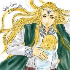 Glorfindel and baby Earendil on Rain Piece
