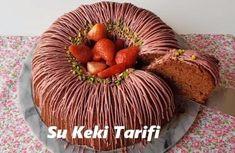 Su Keki Tarifi - İyi Hobi Homemade Beauty Products, Kakao, Turkish Delight, Turkish Recipes, Cake Cookies, Nutella, Chocolate Cake, Yogurt, Muffin