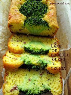 COCINA CON VISTAS: Cake de Brócoli, Queso y Cecina.