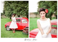 ervizio fotografico ispirato agli anni'50 con una sposa elegant chic e un allestimento casual con un tocco raffinato.