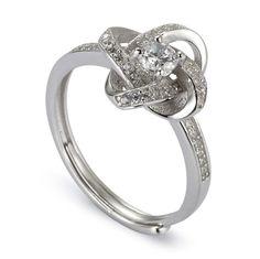 Ralodan Sterling Silver Rings Cubic Zirconia