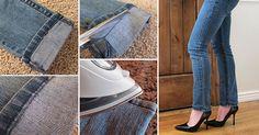How to Make Hem Jeans Fast & Easy - DIY & Crafts - Handimania - www.oursunnyvilla.com