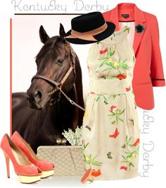 """Kentucky Derby"" by bumblebeesfavorite ❤ liked on Polyvore"