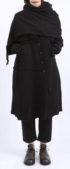 rundholz black label - Mantel gekochte Wolle black - Winter 2016 - stilecht - mode für frauen mit format...