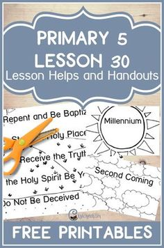 Great LDS handouts and teaching aids to help you teach Primary 5 Lesson 30: Adam-ondi-Ahman