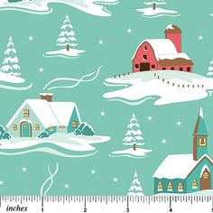 I love Sheri's snow-capped roofs.
