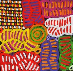 My Mother's Dreaming (BM-1007) by Betty Mbitjana http://merindahart.com.au/artists/betty-mbitjana