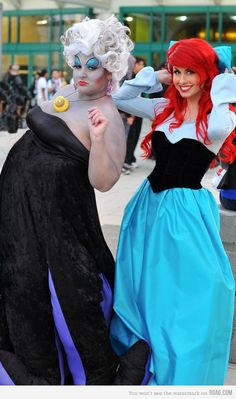 The Little Mermaid - Ariel and Ursula - a mother daughter picture unless I keep my standing appointments to keep my roots under control.....