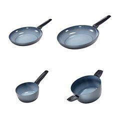 Moneta Azul Gres Fry Pan 85 10 Sauce Pan 67515 qt and Dutch Oven 85275 qt * Click here for more details @