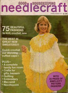 Good Housekeeping Needlecraft Spring Summer 1973 Knitting Crochet Sew Patterns  #GoodHousekeeping #KnittingCrochetPatterns