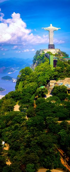 Christ the Redeemer statue on the top of a mountain, Rio De Janeiro, Brazil. Free art print of Christ the Redeemer Statue. Places Around The World, The Places Youll Go, Travel Around The World, Places To See, Around The Worlds, New Seven Wonders, Wonders Of The World, Christ The Redeemer, Brazil Travel