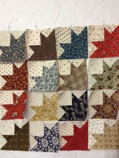 "Miniature Civil War Reproduction Quilt Blocks... 3"" Finished size Mini"