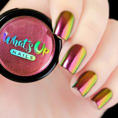Use this ultra fine powder of pink, gold and green and to give your nails an amazing multi chrome effect with ultimate shine and beauty. Weight: 1 gram