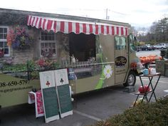 pretty mobile cafe truck with awning