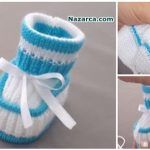 Neuen : New Baby Knitting Needles in Turkish Video, Knit Baby Shoes, Crochet Baby Boots, Knit Baby Dress, Knitted Baby Clothes, Crochet Slippers, Baby Booties, Baby Knitting Patterns, Knitting For Kids, Knitting Socks