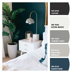 Paint colors from ColorSnap by Sherwin-Williams : Paint colors from ColorSnap by Sherwin-Williams Teal Accent Walls, Accent Wall Colors, Accent Wall Bedroom, Teal Walls, Wall Paint Colors, Bedroom Paint Colors, Paint Colors For Home, Teal Accents, Room Colors