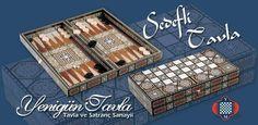 Tavla sets made with seashel