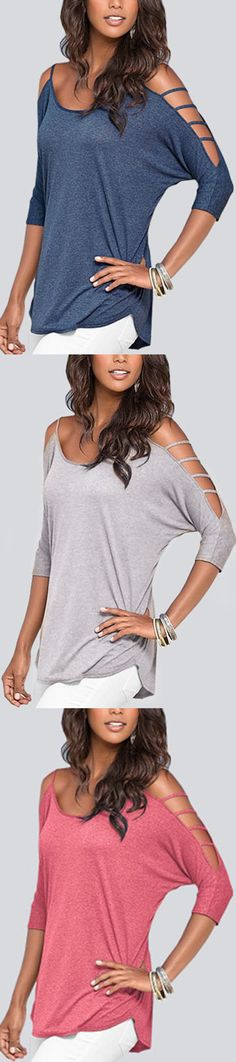 Useful 2019 Womens Spring Western Style Slash Neck Batwing Sleeve Shoulder-bared Large Size Irregular T Tops & Tees Women's Clothing Shirt 5 Colors Complete Range Of Articles