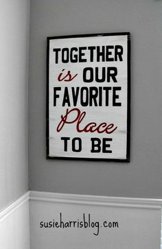 Susie Harris: Together..    Love her signs for sale and her blog is just lovely.  One of my favorite blog reads.