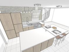 Dessin De Cuisine Rendu Crayonné  Kitchen Design Conception Stunning Kitchen Design Drawings Inspiration Design
